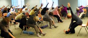 senior chair yoga  bliss yoga